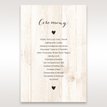 Rustic Woodlands order of service wedding card design