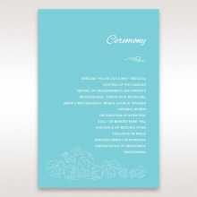 Seaside splendour order of service wedding card