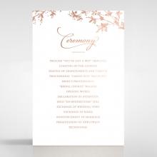 Secret Garden wedding order of service invitation