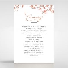 Secret Garden wedding stationery order of service invite