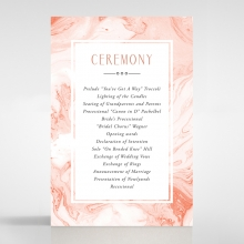 Serenity Marble wedding order of service ceremony card design