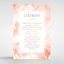 Serenity Marble wedding order of service ceremony invite card