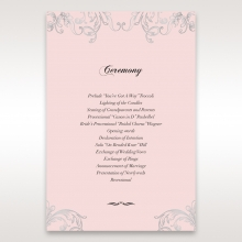 Silvery Charisma wedding stationery order of service ceremony invite card