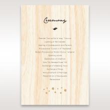 Splendid Laser Cut Scenery wedding stationery order of service ceremony card
