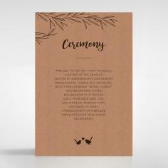 Springtime Love order of service invite card