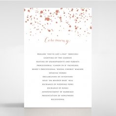 Star Dust wedding order of service invitation