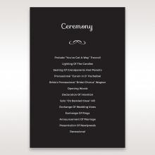 Striking Laser Cut Peacock Digital order of service invite card design