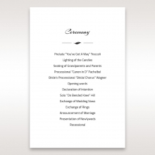 Stylish Laser cut Peacock Feather order of service ceremony stationery card design
