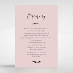 Sweet Romance order of service invitation card