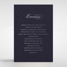 Timeless Romance order of service stationery invite
