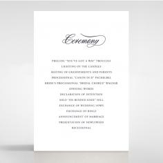 Timeless Romance wedding order of service card design