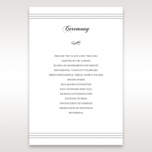 Unique Grey Pocket with Regal Stamp wedding order of service invitation card design