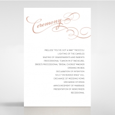 United as One order of service ceremony stationery invite card design