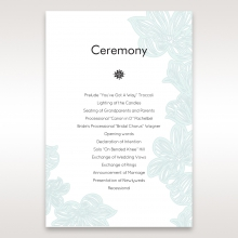 Vibrant Flowers order of service ceremony stationery invite card design