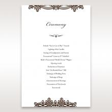 Victorian Charm order of service invite