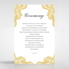 Victorian Lace wedding stationery order of service ceremony card