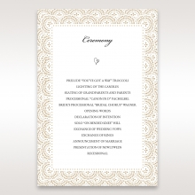Vintage Lace Frame wedding stationery order of service invite