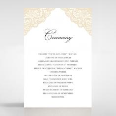 Vintage Prestige wedding stationery order of service ceremony card design