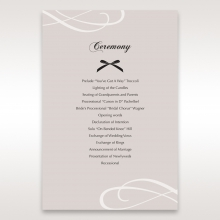 Wedded Bliss order of service ceremony stationery invite card design