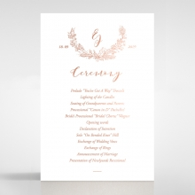 Whimsical Garland order of service stationery card design