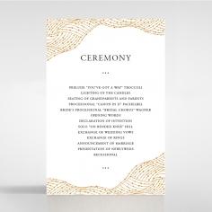 Woven Love Letterpress order of service ceremony stationery invite card