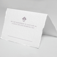 Ace of Spades with Deckled Edges wedding venue place card stationery item