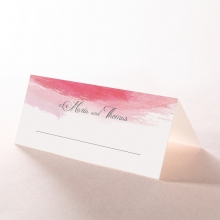 At Sunset wedding venue place card stationery design