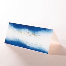 At Twilight  with Foil wedding table place card stationery item