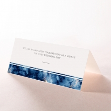 Azure  with Foil reception place card stationery