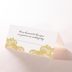 Black Lace Drop wedding venue place card