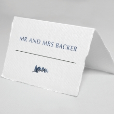 Blissful Union place card stationery design