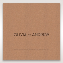 Blissfully Rustic  Laser Cut Wrap wedding place card