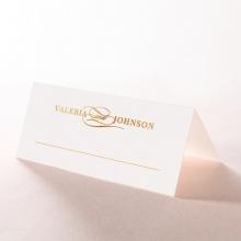Blue Aurora wedding reception place card