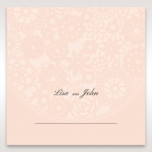 Blush Blooms table place card stationery design