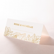 Botanical Canopy wedding place card stationery design