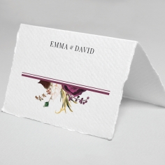 Burgandy Rose reception table place card stationery item