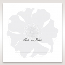 Classic Shimmering Flower table place card stationery
