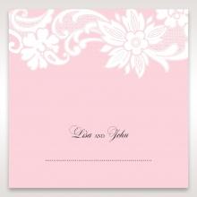 Classic White Laser Cut Floral Pocket wedding venue place card design