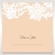 Classic White Laser Cut Sleeve reception place card stationery