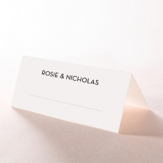 Clear Chic Charm Paper wedding venue place card stationery