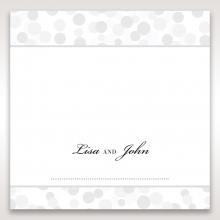 Contemporary Celebration wedding venue table place card stationery item