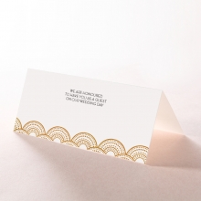 Contemporary Glamour wedding stationery table place card design