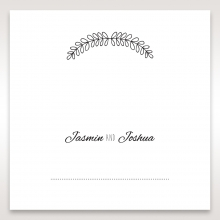 Country Lace Pocket wedding place card stationery