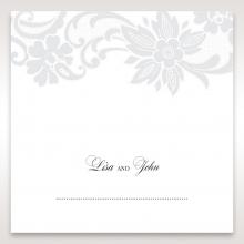 Elegant Black Laser Cut Sleeve wedding reception place card design