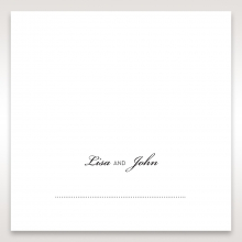 Embossed Date place card stationery item
