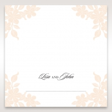 Embossed Floral Frame reception place card stationery