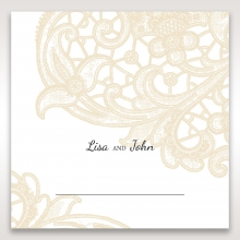 Embossed Floral Pocket reception table place card