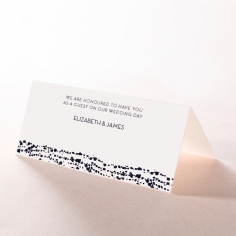 Enchanting Halo wedding reception table place card design