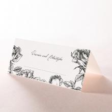 English Rose wedding stationery place card design