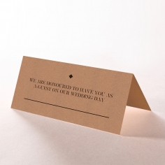 Etched Cork Letter reception place card stationery design